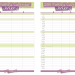 2015 Free Printable Family Calendar by Vita Di Mamma is here!